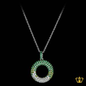 Stylish-green-crystal-round-pendant-lovely-elegant-gift-for-her