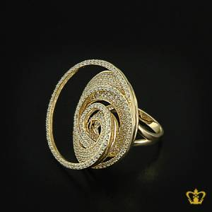 Stylish-spiral-designer-gold-color-ring-inlaid-with-crystal-diamonds-lovely-gift-for-her