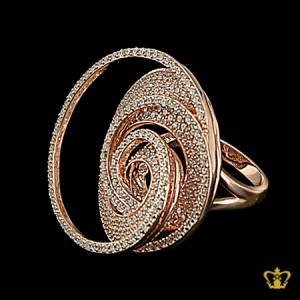 Classy-spiral-designer-rose-gold-color-ring-inlaid-with-crystal-diamonds-lovely-gift-for-her