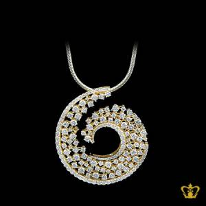 Ornamented-golden-pendant-inlaid-with-crystal-diamond-lovely-gift-for-her