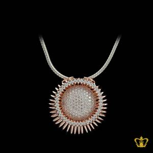 Beautiful-golden-crystal-round-pendant-exquisite-designer-jewelry-gift-for-her