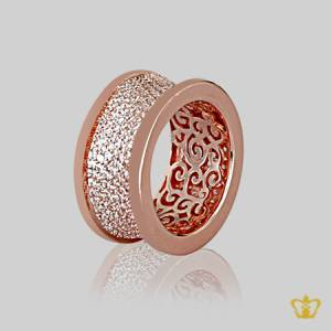 Graceful-stylish-rose-gold-color-ring-inlaid-with-exclusive-clear-crystal-diamonds-lovely-designer-gift-for-her