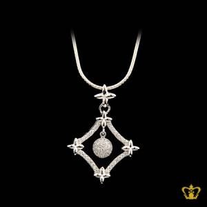 Fancy-embellished-silver-four-star-pendant-crystal-diamond-a-fashionable-designer-opulent-gift-for-her