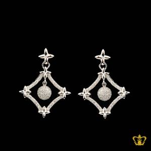 Alluring-four-star-earring-inlaid-with-elegant-crystal-diamonds-lovely-gift-for-her