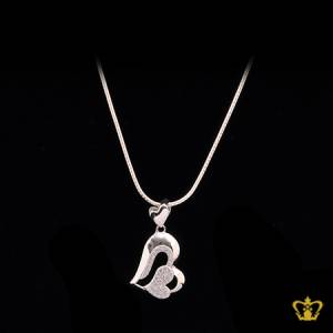 Heart-shape-rhodium-plated-chain-silver-for-her-occasions-celebrations-gift-birthday-pendant-silver-crystal-stone-valentines-day