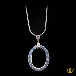 Exquisite-designer-pendant-with-blue-crystal-diamonds-lovely-gift-for-her
