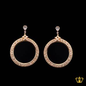 Stylish-chic-golden-designer-earring-with-crystal-diamond-lovely-elegant-gift-for-her