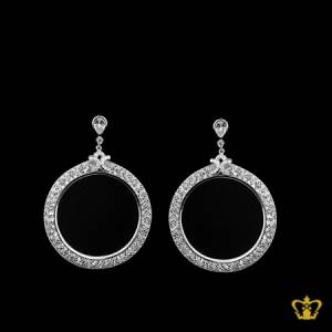 Designer-silver-round-earring-with-crystal-diamonds-elegant-gift-for-her