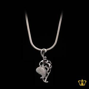 Heart-shape-chain-silver-for-her-occasions-celebrations-gift-birthday-pendant-silver-crystal-stone-valentines-day