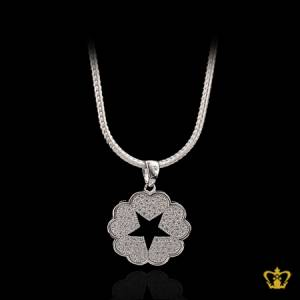 Lovely-silver-heart-star-pendant-inlaid-with-crystal-diamond-elegant-Valentine-s-Day-gift-for-her