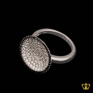 Exquisite-silver-ring-inlaid-with-high-class-clear-and-black-crystal-diamonds-designer-gift-for-her
