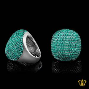 Stylish-chic-cocktail-ring-for-women-s-embellished-with-green-crystal-diamonds-lovely-elegant-gift