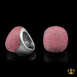 Sparkling-big-sterling-silver-cocktail-ring-for-women-s-embellished-with-pink-crystal-diamond-lovely-elegant-gift-for-her