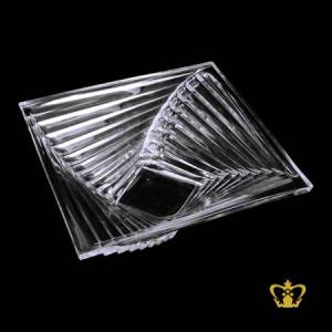 SQUARE BOWL MULTI TIER CLEAR