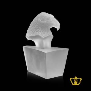 Personalized-Crystal-Replica-of-Eagle-Head-in-Frosted