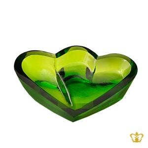 Green-collection-crystal-art-plate-special-heart-shape-gift-for-her-for-him-valentines-day-birthday-wedding-special-occasions-