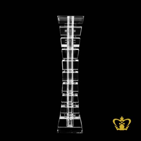 Manufactured-Artistic-Crystal-Tower-Vase-with-Intricate-Detailing