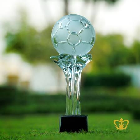Football-replica-crystal-trophy-with-black-base-sports-event-games-awards-customized-logo-text
