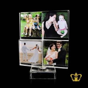 Personalized-Crystal-Rotating-Photo-Frame-for-desktop-customized-with-your-Photo-name-designation-logo