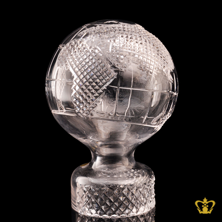 Masterpiece-Shimmering-Crystal-Globe-with-Intricate-Detailing-of-Map