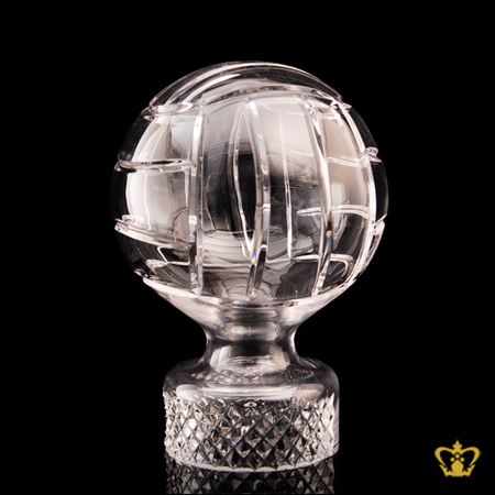 Personalized-Crystal-Replica-of-Volley-Ball-Trophy-Customized-Text-Engraving-Logo-Base-Box
