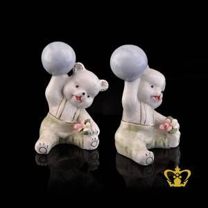A-Masterpiece-Ceramic-Figurine-of-a-Teddy-Bear-handling-a-Ball