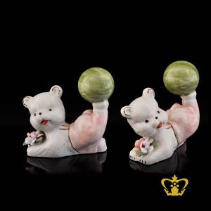 A-Masterpiece-Ceramic-Figurine-of-a-Teddy-Bear-kicking-a-Ball