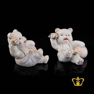 A-Masterpiece-Ceramic-Teddy-Bear-in-a-sitting-position