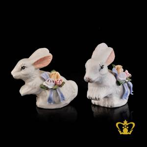 A-Masterpiece-Ceramic-Figurine-of-a-Rabbit-with-Colorful-Flowers-on-the-side