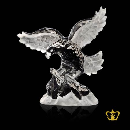 Handcrafted-Crystal-Replica-of-UAE-Falcon-Customized-Base-either-Black-or-Clear-with-Logo-and-Text-UAE-Souvenirs