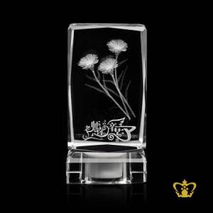 Flower-3D-crystal-cube-with-light-etched-engraved-customized-personalized-valentines-day-gift-wedding-special-occasions-birthday-2D-3D