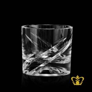 Crystal-whiskey-glass-tumbler-vintage-look-with-sparkling-spiral-cuts